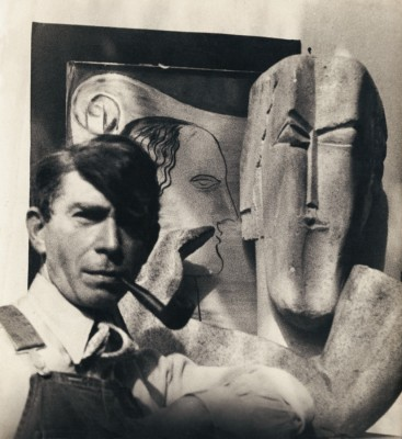 Veno Pilon, POrtrait of Ossip Zadkine, 1936